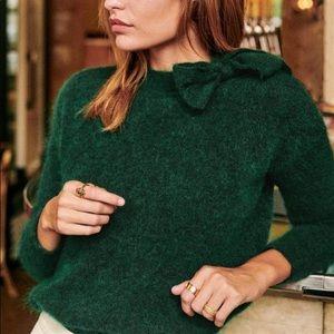 Sezane Zita Bow Jumper Sweater Size Medium
